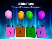 Enjoy The Shopping With Sale PowerPoint Templates PPT Themes And Graph