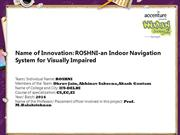 ROSHNI-an Indoor Navigation System for Visually Impaired