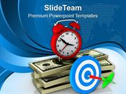 Target The Money On Time PowerPoint Templates PPT Themes And Graphics