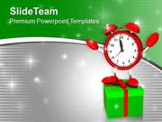 Give Gifts On Time Celebration Theme PowerPoint Templates PPT Themes A