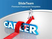 Make Career With Jump Hindrance PowerPoint Templates PPT Themes And Gr