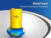 Oil Prices Hike Compressing World PowerPoint Templates PPT Themes And