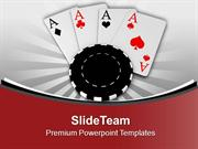 Poker Chips And Cards Game Theme PowerPoint Templates PPT Themes And G