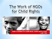 The Work of NGOs for Child Rights