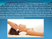 A Ideas for Tantric Massage therapies