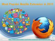 Most Popular Mozilla Extension in 2013