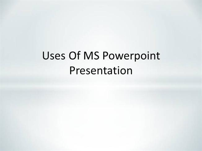 COLLAGE of USES of MS POWERPOINT |authorSTREAM