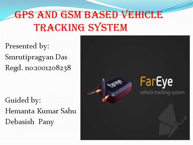 Gps & gsm based real-time vehicle tracking system. Ppt video.