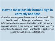 Steps to hotmail sign in in your cellphone make safe