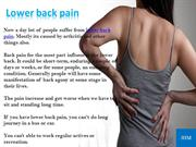 How to relief from Lower back pain with exercise?