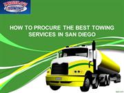 How To Procure The Best Towing Services In San Diego