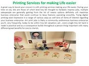 Printing Services for making Life easier