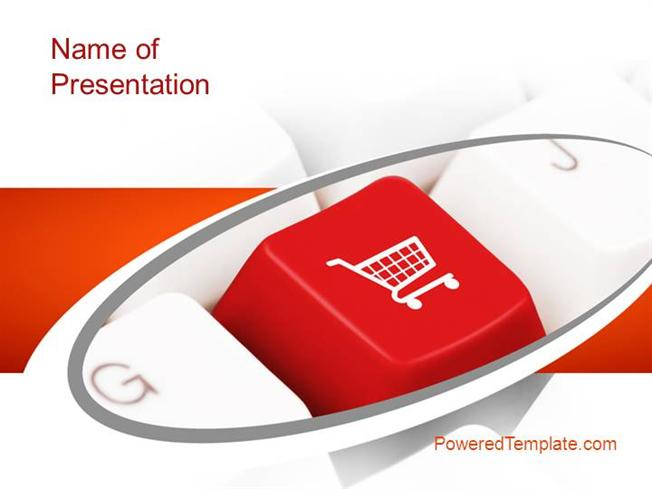 ecommerce keyboard powerpoint templatepoweredtemplate, Presentation templates