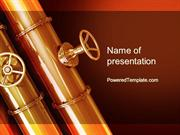 Industrial Pipes PowerPoint Template by PoweredTemplate.com