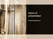 Old Board PowerPoint Template by PoweredTemplate.com