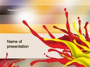 Red and Yellow Splash Paint PowerPoint Template by PoweredTemplate.com