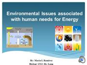 Human needs for Energy-E issues-1