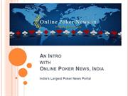 Online Poker News, India