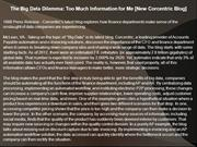 The Big Data Dilemma: Too Much Information for Me [New Corcentric Blog