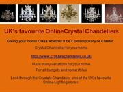 Crystals Chandelier  one of the UK's favourite Online Lighting stores