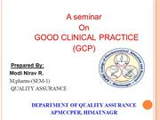 Good Clinical Practice by Nirav
