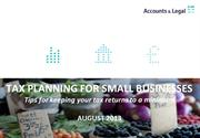 Tax planning tips for small businesses