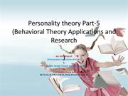 Personality theory Introduction part-5