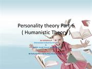 Personality theory Introduction part-6