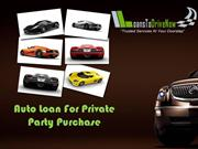 Auto Loan For Private Party With No Money Down