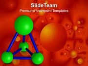 Concept Of Abstract Molecular Structure PowerPoint Templates PPT Theme