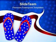 Flip Flop Beach Footwears PowerPoint Templates PPT Themes And Graphics