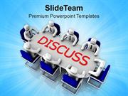 Group Discussion Business Solution PowerPoint Templates PPT Themes And