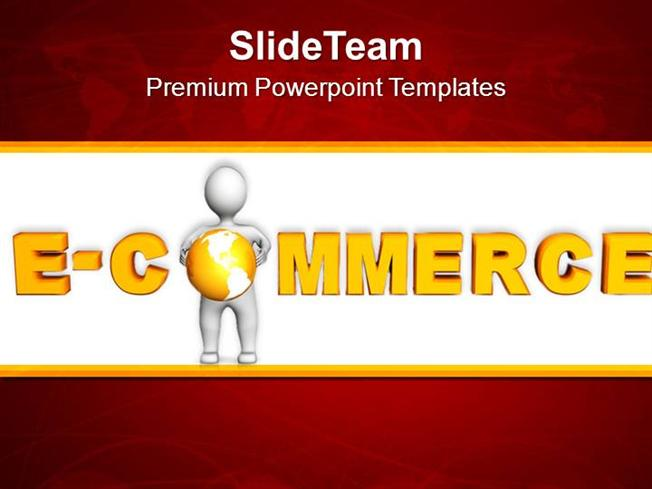 online shopping e-commerce concept powerpoint templates ppt themes, Presentation templates