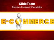 Online Shopping E-Commerce Concept PowerPoint Templates PPT Themes And