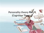 Personality theory Introduction part-7