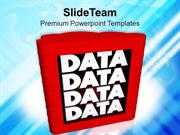 Strategy To Upload And Store Data PowerPoint Templates PPT Themes And