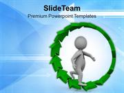 Follow The Unidirectional Path PowerPoint Templates PPT Themes And Gra