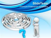 Labyrinth And Blue Question Mark PowerPoint Templates PPT Themes And G