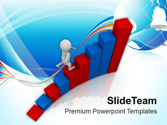 reach on top with hard work powerpoint templates ppt themes and gr
