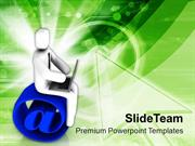Stay Connected With Internet PowerPoint Templates PPT Themes And Graph