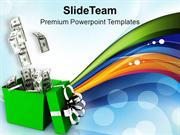 Get The Money As A Gift PowerPoint Templates PPT Themes And Graphics 0