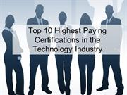 Top 10 Highest Paying Certifications in the Technology Industry