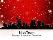 City View With Snow Background PowerPoint Templates PPT Themes And Gra