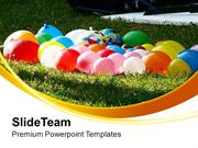 Fun Time With Water Balloons PowerPoint Templates PPT Themes And Graph