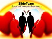 Heart Symbol Of Love Relationship PowerPoint Templates PPT Themes And