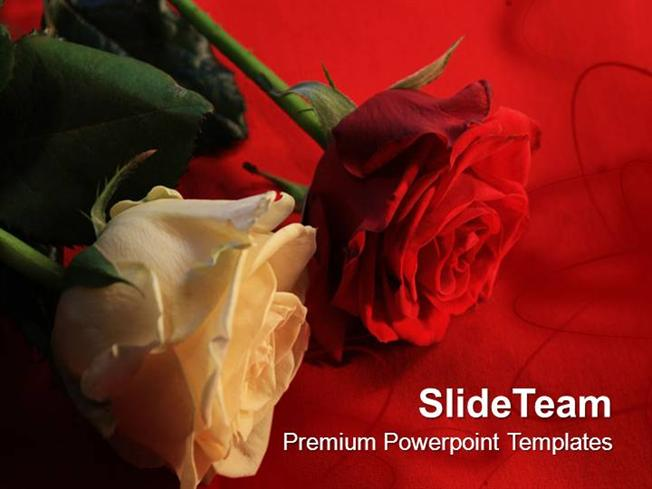 Thank You Roses Powerpoint Templates PPT Themes And Graphics