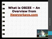 OBIEE online training overview