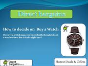 Directbargains : Buy Mens Watches Online