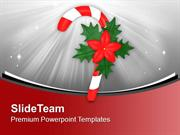 Candy Cane For Christmas Celebration PowerPoint Templates PPT Themes A