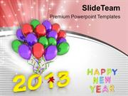 Celebration Of New Year 2013 PowerPoint Templates PPT Themes And Graph